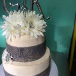 2-Tiered Silver and Floral