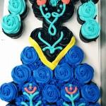 Anna Pull-a-part Cupcake Cake