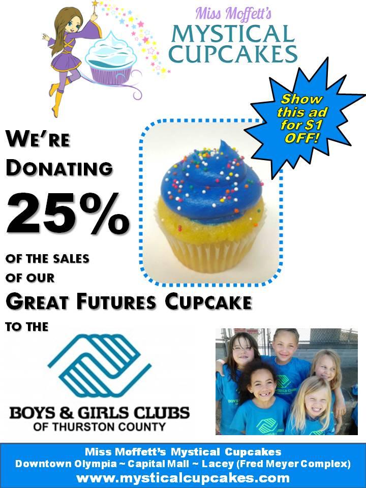Boys & Girls Club Great Futures Blue Raspberry Cupcake Fundraiser