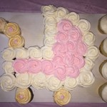 Baby Shower Carriage Pullapart Cupcake Cake