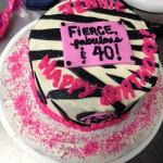 40th Birthday Zebra Fondant