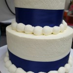 2-Tiered Smooth Blue Ribbon