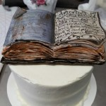 Harry Potter Spell Book Wedding Cutting Cake