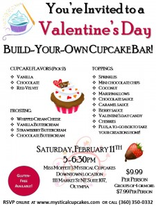 Valentine's Day Build Your Own Cupcake Bar